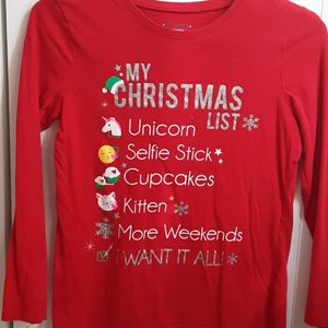 Christmas checklist long sleeved shirt